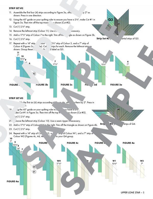 Quilt Pattern Sample, 3rd Story Workshop