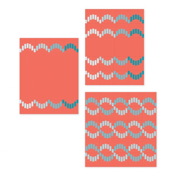 Striped Scallops Quilt Pattern, 3rd Story Workshop, Alternate Layouts