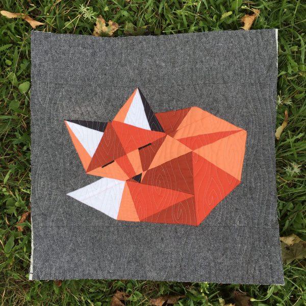 Sleepy Fox Quilt Pattern, 3rd Story Workshop