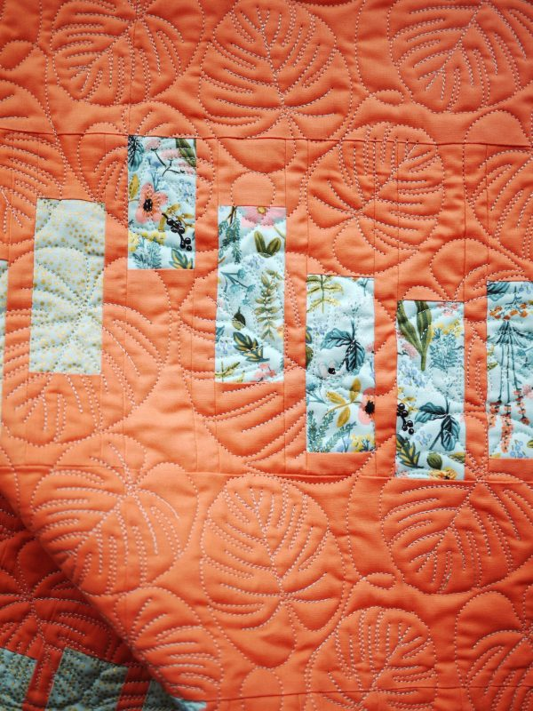 Striped Scallops Quilt Pattern, 3rd Story Workshop, Palm Leaves Quilting