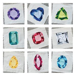 Gemstone Quilt Blocks, 3rd Story Workshop, Andrea Tsang Jackson