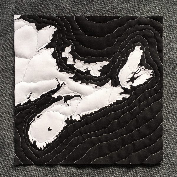 Nova Scotia Map, Andrea Tsang Jackson, 3rd Story Workshop, Quilted Map