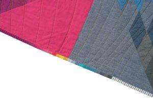 Rainbow Quilt Binding, Swan Quilt, Andrea Tsang Jackson, 3rd Story Workshop, Quilt Pattern