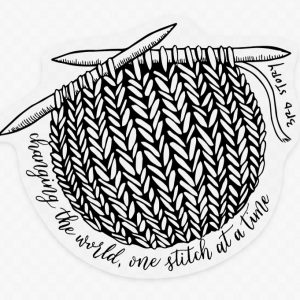 3rd Story Workshop Sticker - Knitting, Fibre art, yarn