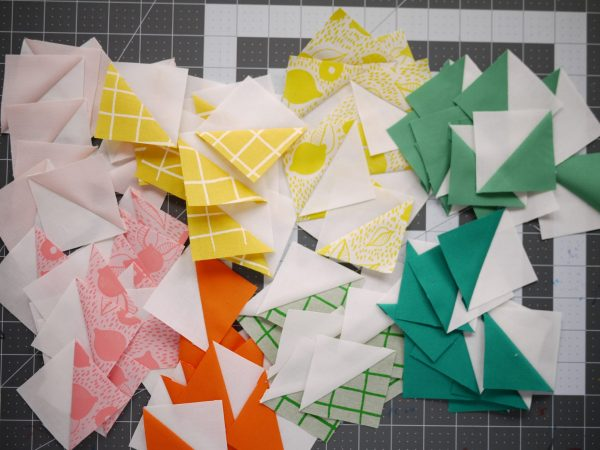 Modern Quilt Pattern - 3rd Story Workshop - The Positive Side - HSTs - Half Square Triangles