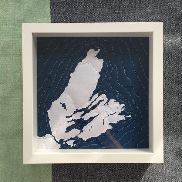 Quilted Map - 3rd Story Workshop - Andrea Tsang Jackson - Cape Breton Nova Scotia