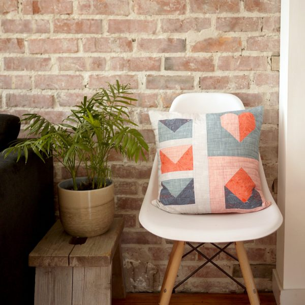 Modern Quilt Pattern - 3rd Story Workshop - Express Post, Quilted Pillow