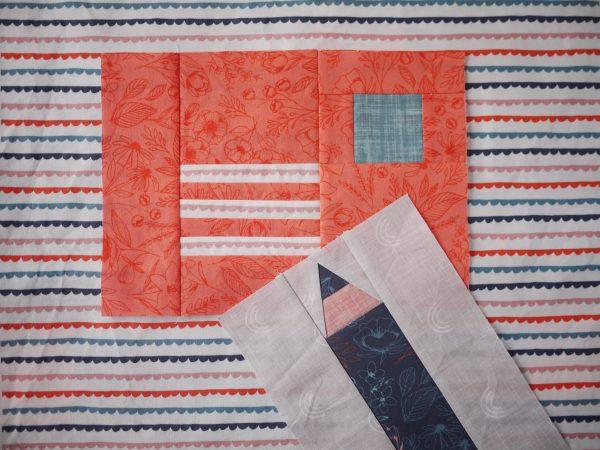 Modern Quilt Pattern - 3rd Story Workshop - Express Post, Letter Quilt Block