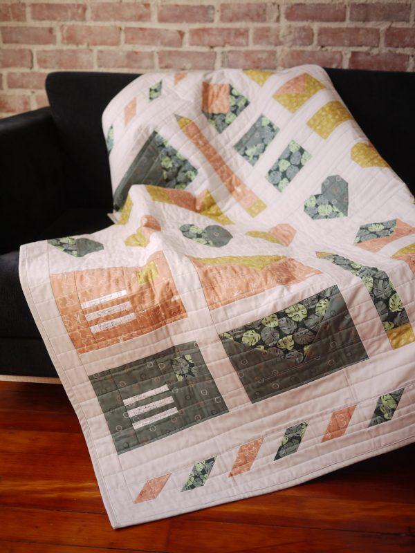 Modern Quilt Pattern - 3rd Story Workshop - Express Post, Letter Mail Quilt
