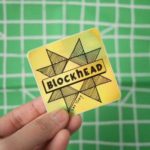 Quilt Sticker - Quilt Block Sticker - Blockhead - 3rd Story Workshop