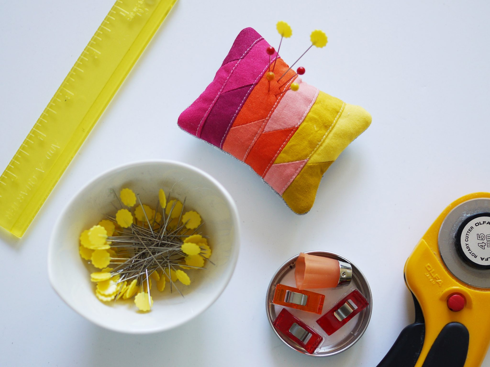 3rd Story Workshop - Pin Cushions, Triadic Colours